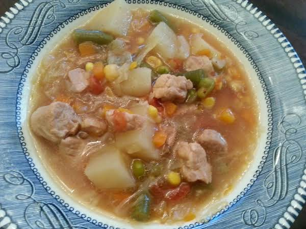 Pork & Vegetable Soup Recipe