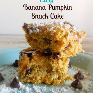 Easy Banana Pumpkin Snack Cake.