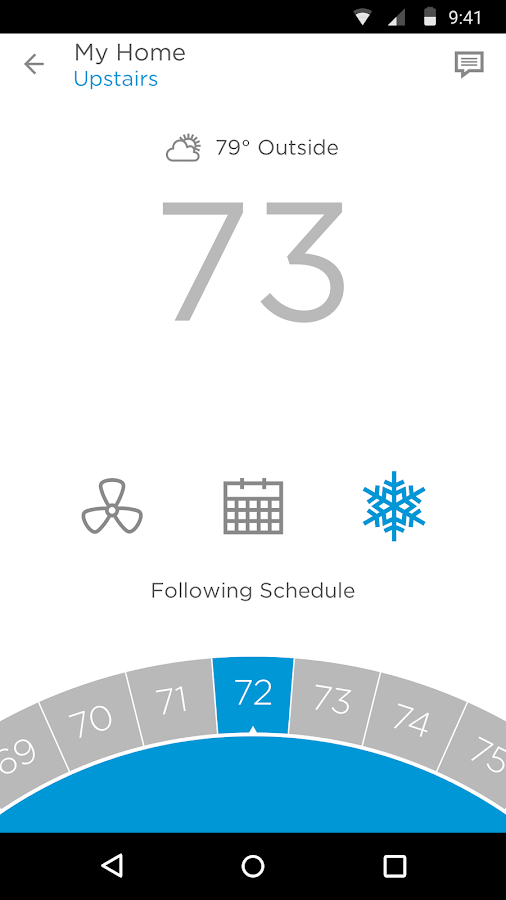 Screenshots of Honeywell Lyric for iPhone