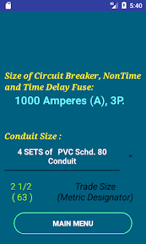Download pec wire size calculator free apk latest version app for pec wire size calculator free poster pec wire size calculator free poster greentooth Images