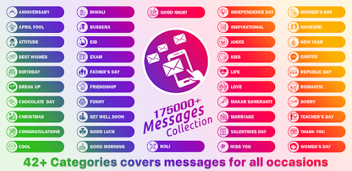 175000 message status collection google play