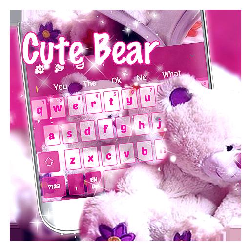 Cute Girly Bear Keyboard