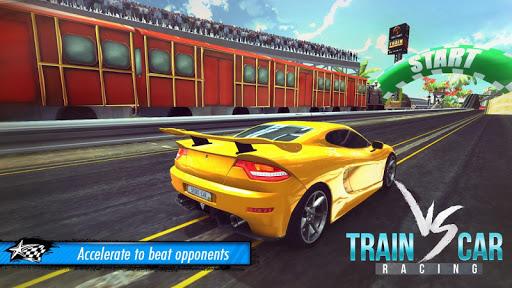 Train vs Car Racing 3D  captures d'u00e9cran 1