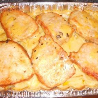 Pork Chop Potato Casserole.