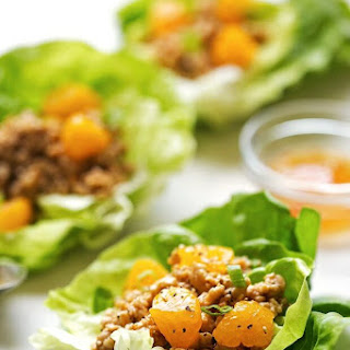 Orange Chicken Lettuce Wraps
