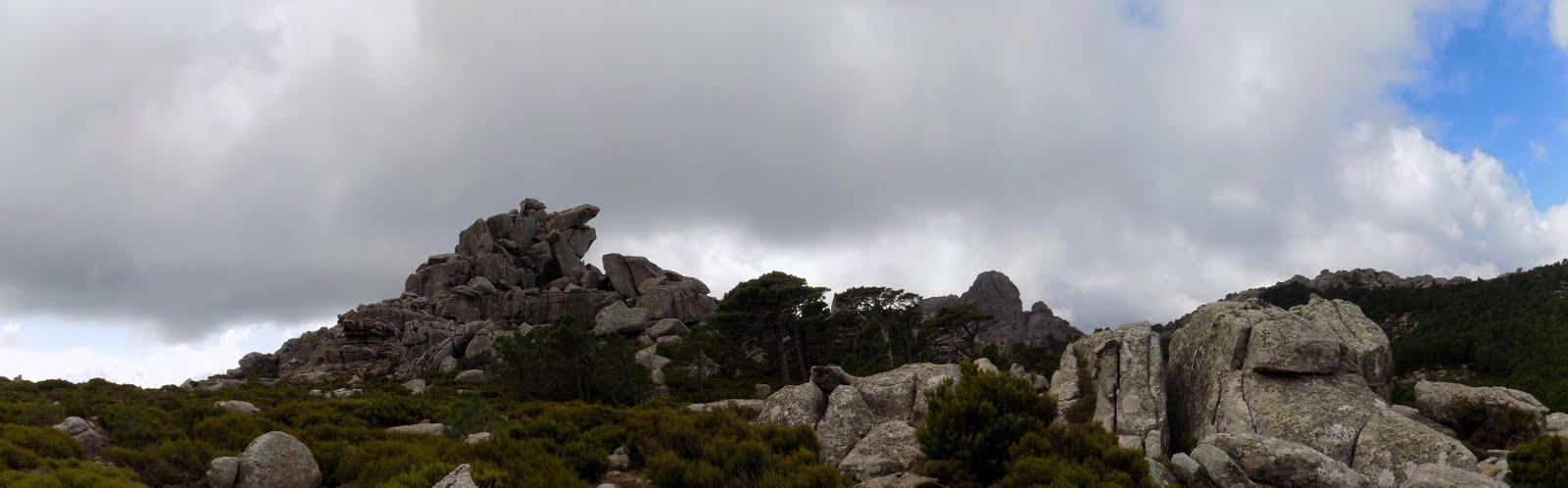 La montée vers le Capelluciu par le NE (photo Olivier Hespel)
