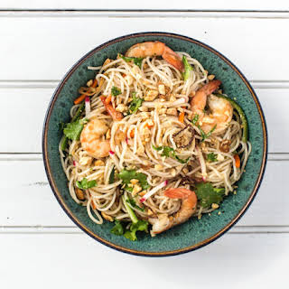 Lemongrass-Scented Rice Noodle Salad with Mint and Cilantro.