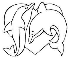 A Valentine fish coloring page