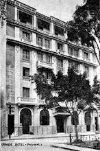 Photo: O recém-inaugurado Grande Hotel, na Rua do Imperador, em frente à Praça dos Expedicionários. Foto da década de 30