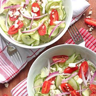 Greek Salad with Spiralized Cucumber Noodles
