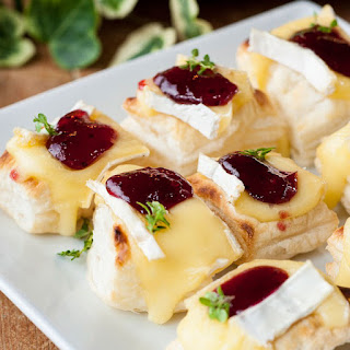 Brie And Cranberry Bites.