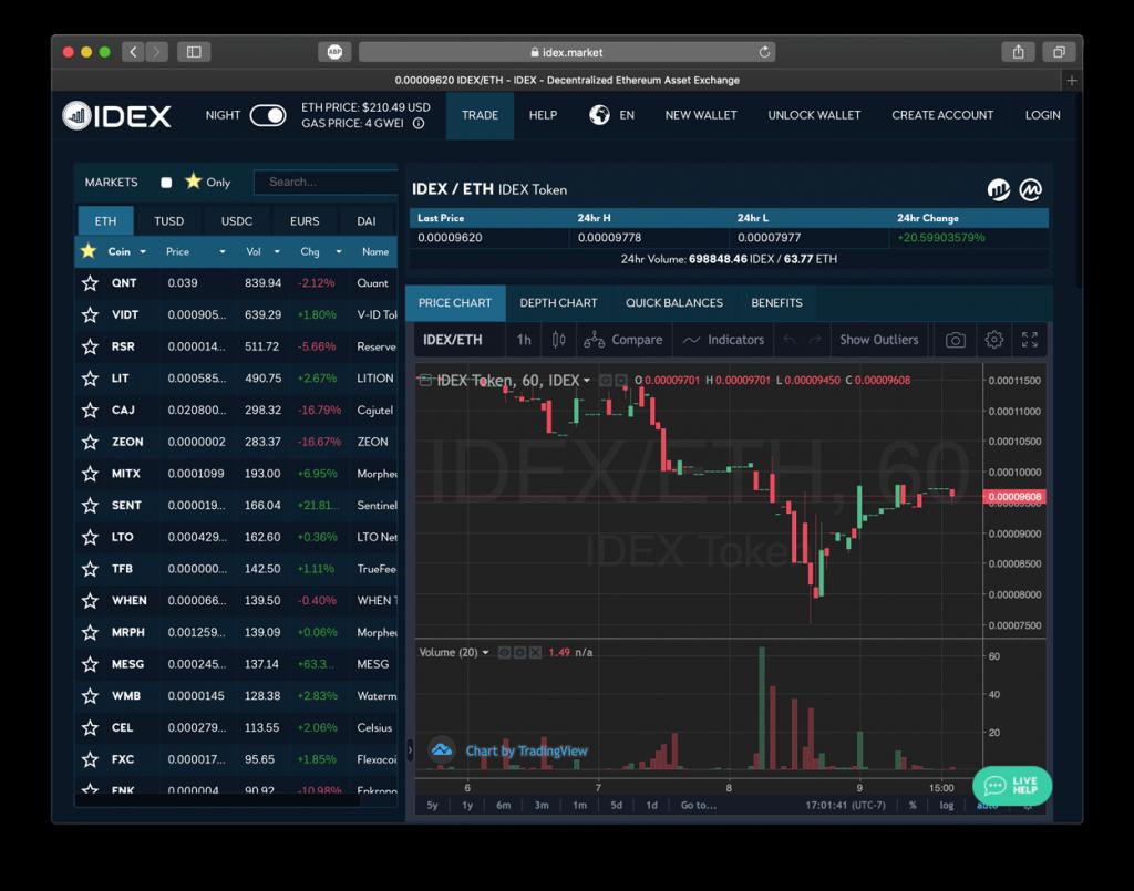 An DEX Coinbase alternative