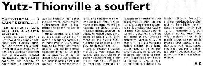 Photo: 10-04-11 N3F Une victoire face à Saint-Dizier synonyme d'espoir