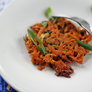 Sweet Potato Latkes with Ginger and Sesame