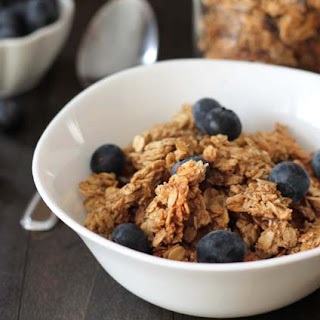 Nut Free Maple Coconut Granola Clusters.