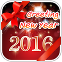 2016 New Year Greeting Cards icon