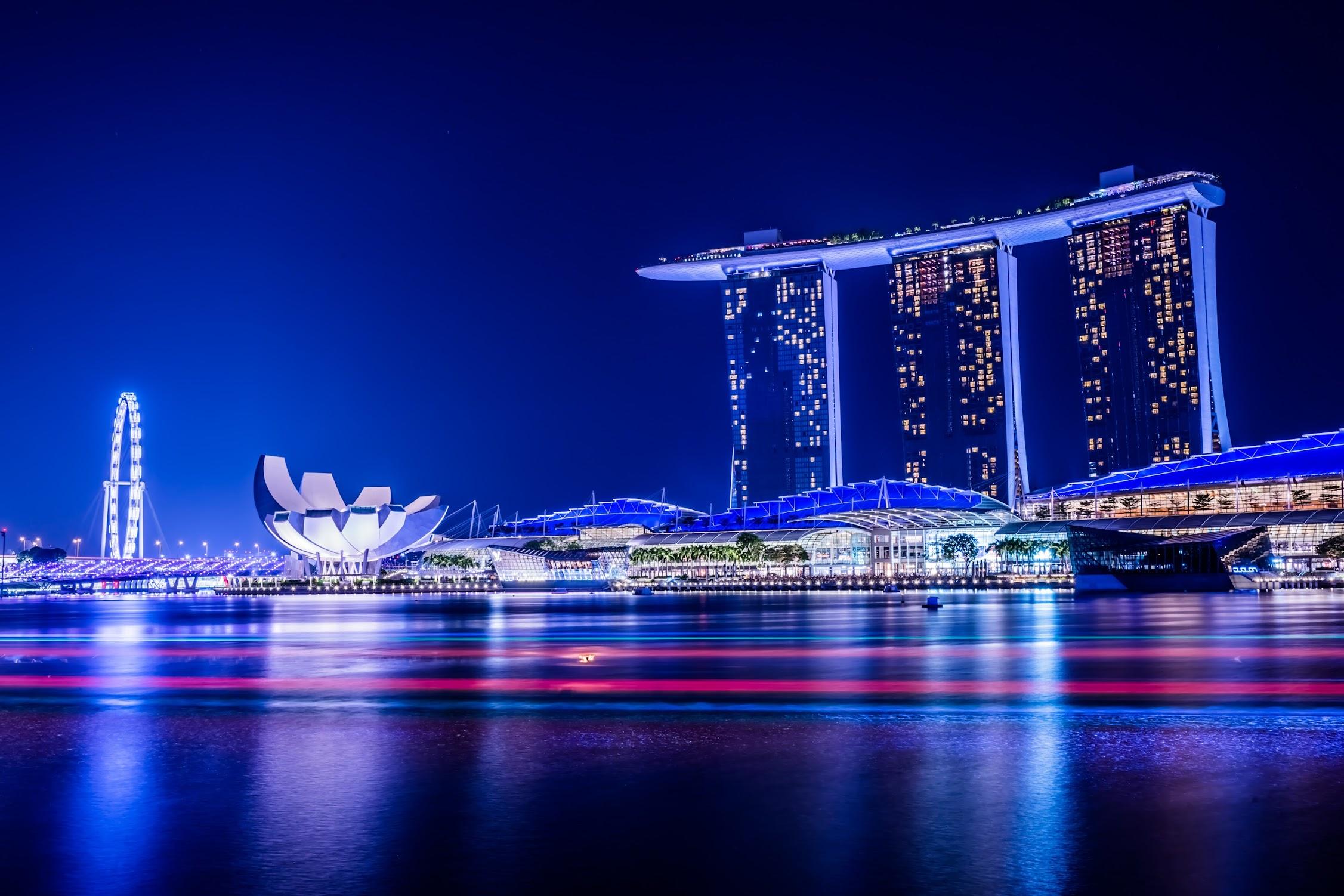 シンガポール マリーナ・ベイ・サンズ 夜景7