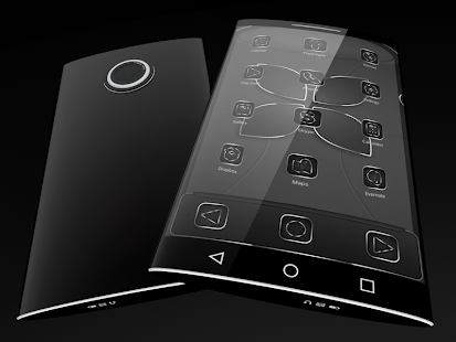 Soft Touch Black theme for Next Launcher 3