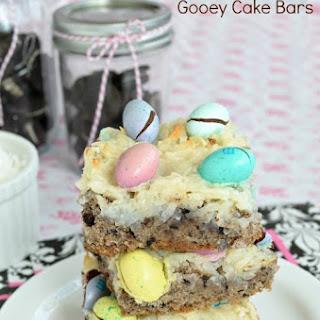 Oreo Coconut Gooey Cake Bars.
