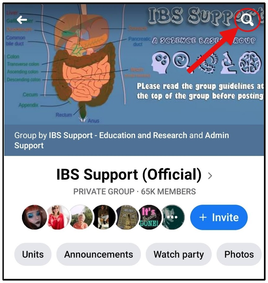 ibs support forum facebook