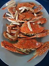 Photo: steamed crabs, Sunee, Pranburi marina