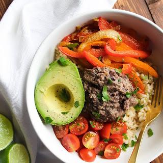 Southwestern Veggie Bowl with Black Bean Hummus