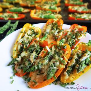 Asparagus Parmesan Stuffed Mini Peppers