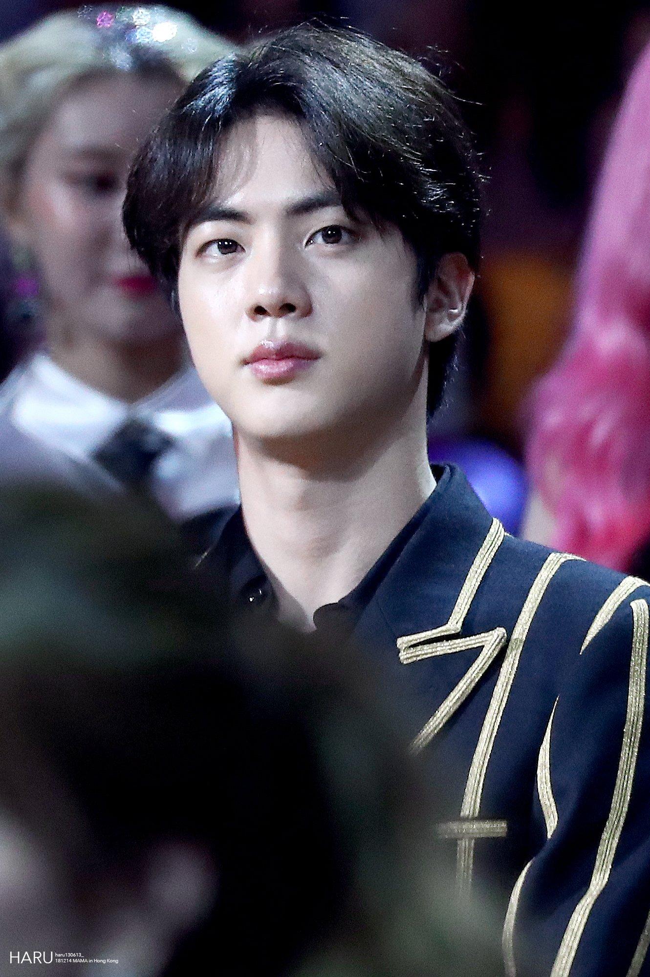 BTS Jin Gold-striped Suit