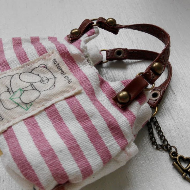 Bear Stripe Mini Bag by Lessugar Handmade