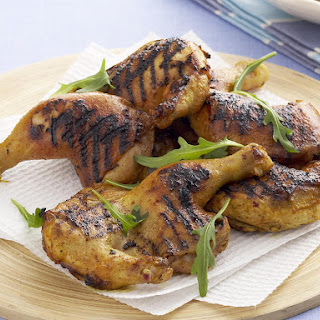 Barbecued Orange and Turmeric Spatchcock Chicken