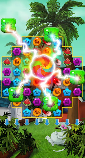 Crush Weed Match 3 Candy Jewel screenshot 1
