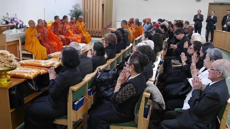 พิธีสวดมาติกา ทอดผ้าบังสกุลและฌาปนกิจศพ หลวงพ่อพระมหานาคเสน นาคเสโน อดีตเจ้าอาวาส วัดพุทธวิหาร พลาสโตว์ วันที่ 23 มีนาคม 2560