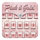 Pink & Gold Keyboard Theme