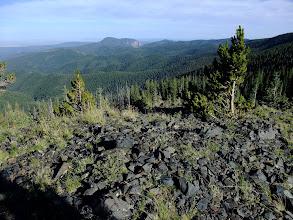 Photo: Looking toward the backside of Hermit's Peak