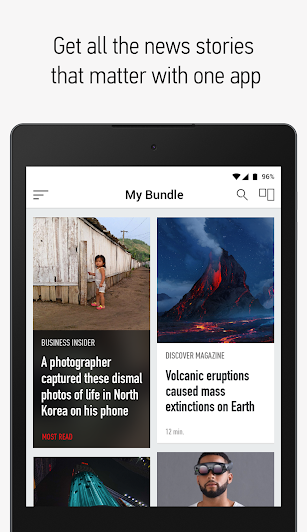 Bundle Breaking News screenshot for Android