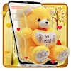 Yellow Teddy Bear Launcher Theme