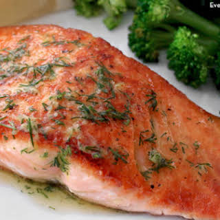 Pan-Seared Salmon with Dill Butter.