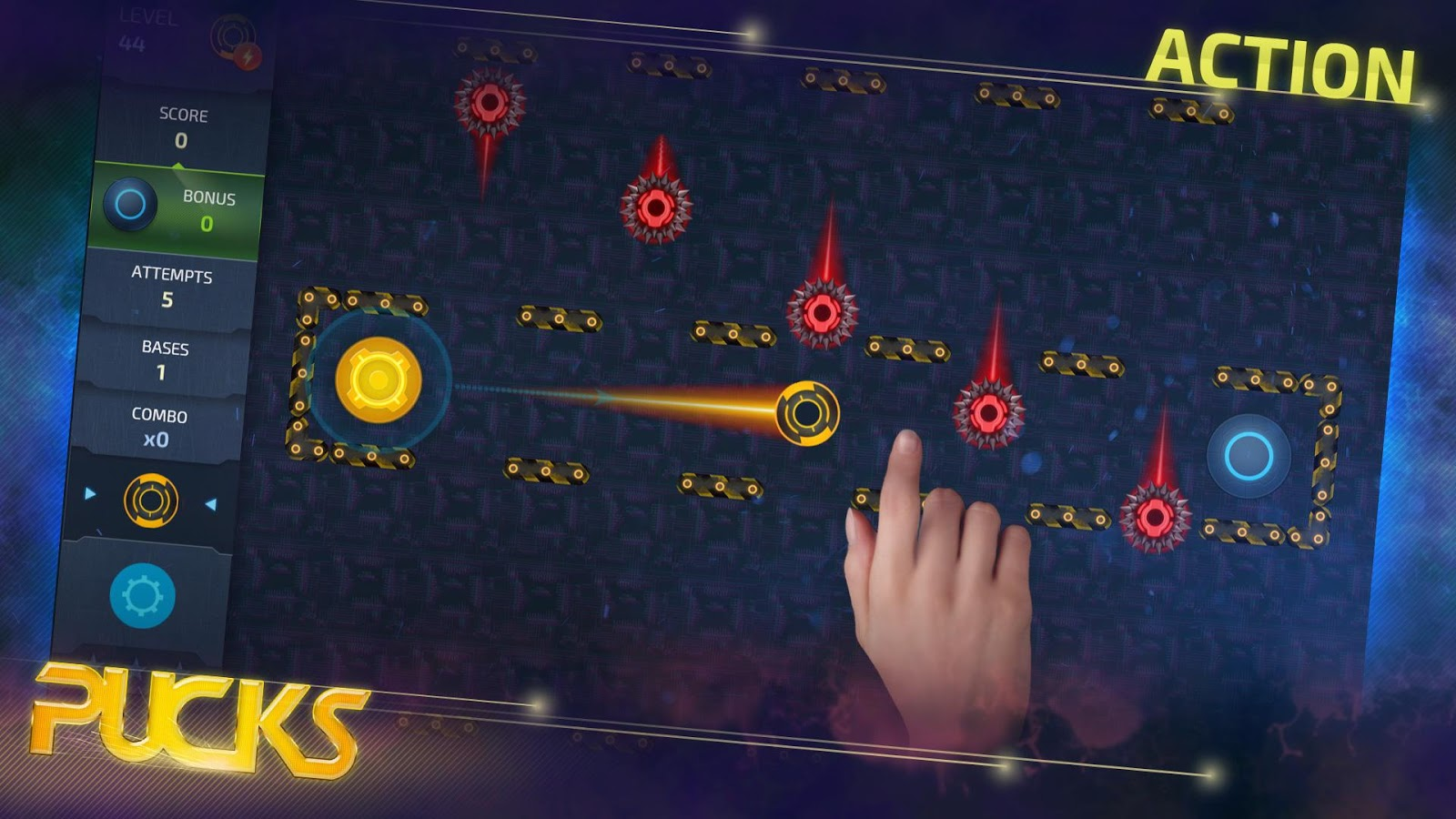 Space Pucks Game- screenshot