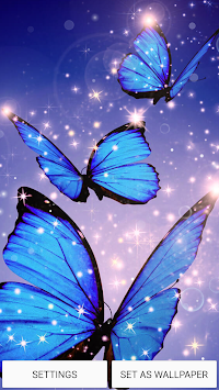 Neon Butterfly Live Wallpaper By Wallpapers And Backgrounds Poster