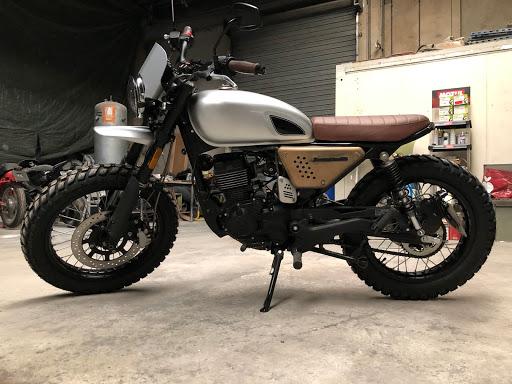 vue générale Masai scrabbleur, modification Motorcycle