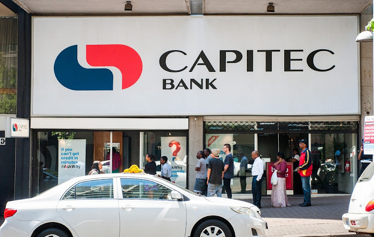 A Capitec Bank branch in Braamfontein, Johannesburg. Picture: SUNDAY TIMES