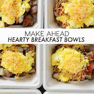 Hearty Make Ahead Breakfast Bowls.