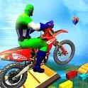 Super Crazy Hero Bike Stunts: Moto Racing 3D icon