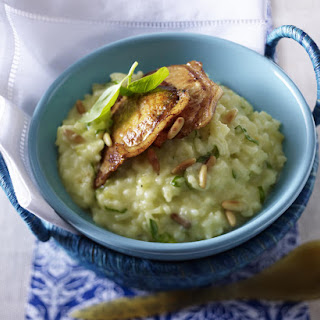 Pork with Basil and Pine Nut Risotto