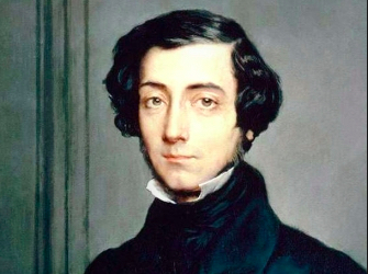 "Alexis Tocqueville suggested in the mid-19th century that we were increasingly devoid of a sense of higher purpose, disappearing into our ""petty and vulgar pleasures""."
