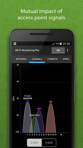 WiFi Monitor Pro: analyzer of WiFi networks hack tool