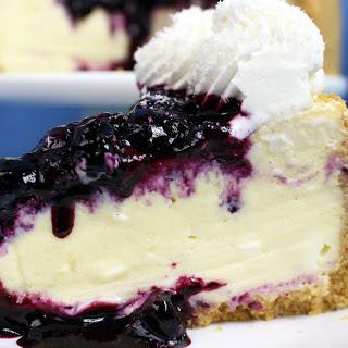 White Chocolate Blueberry Cheesecake [Vegan]
