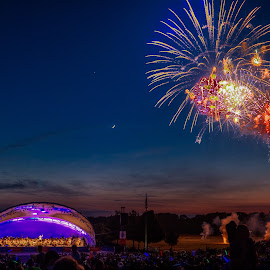 Conner Prairie by Dennis McClintock - Public Holidays July 4th ( city park, july, indianapolis, fireworks, fourth of july,  )