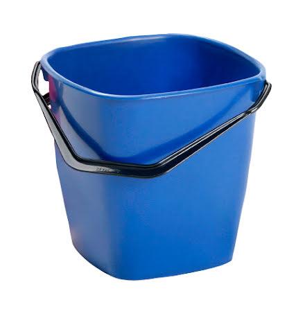 Hink fyrkantig 9,5l        blå