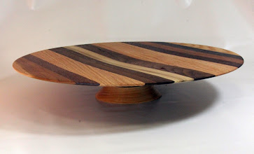 "Photo: Ilya Zavorin 3"" x 15 1/2"" cake stand [several woods]"